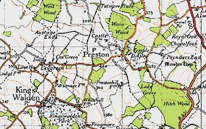 Old map of Preston in 1946