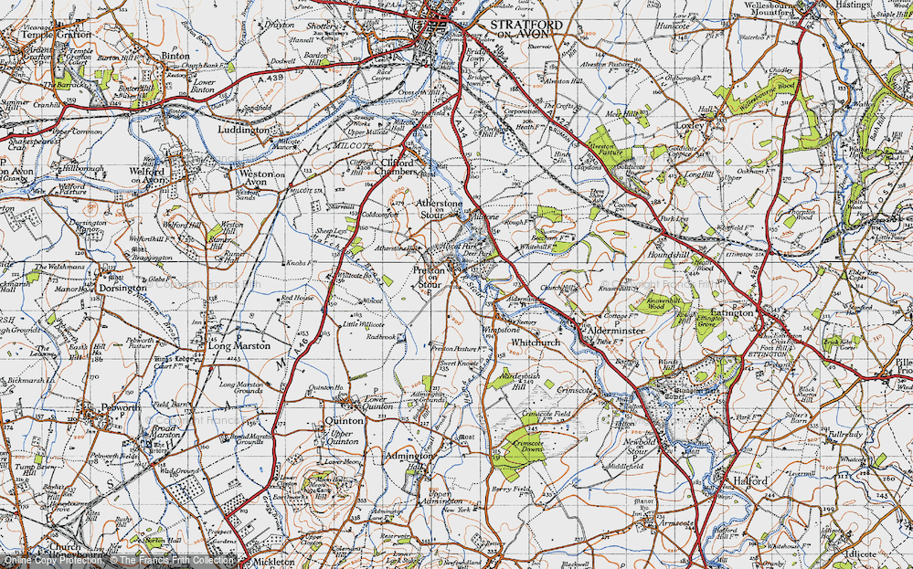 Old Map of Preston on Stour, 1946 in 1946