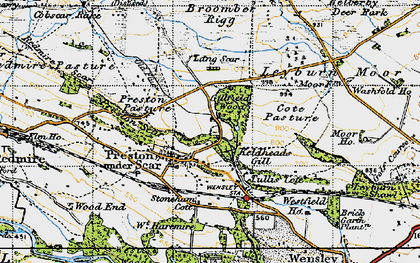 Old map of Preston-under-Scar in 1947