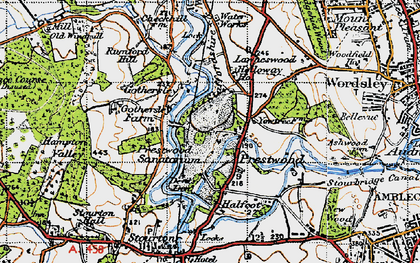 Old map of Lawns Wood in 1946