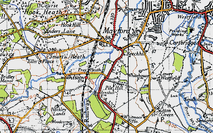 Old map of Worplesdon Sta in 1940