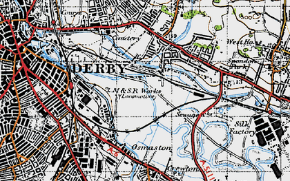 Old map of Pride Park in 1946
