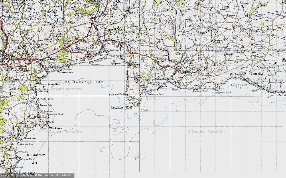 Old Map of Pridmouth, 1946 in 1946