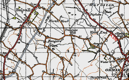Old map of Asmall Ho in 1947