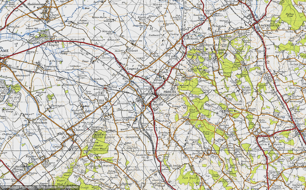 Old Map of Princes Risborough, 1947 in 1947