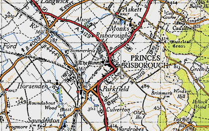 Old map of Princes Risborough in 1947