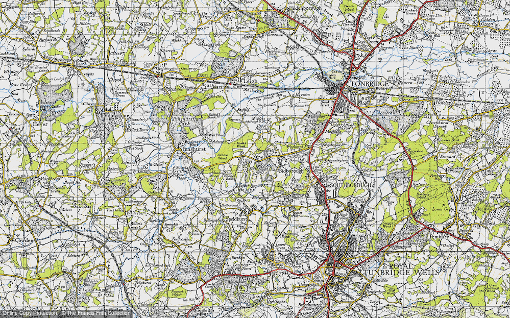 Old Map of Historic Map covering Ashour Wood in 1946