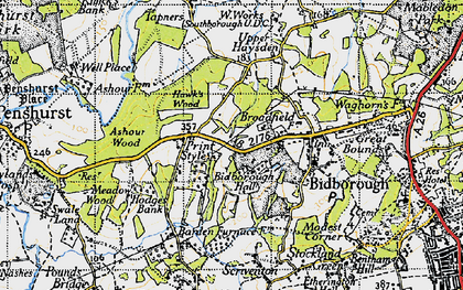 Old map of Ashour Wood in 1946