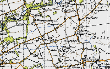 Old map of Whiteclose in 1947