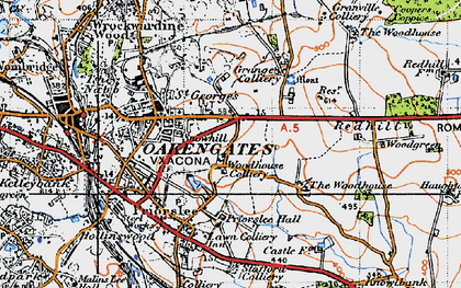 Old map of Priorslee in 1946