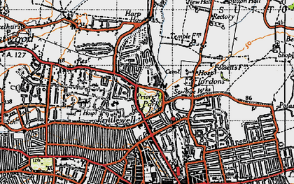Old map of Prittlewell in 1945