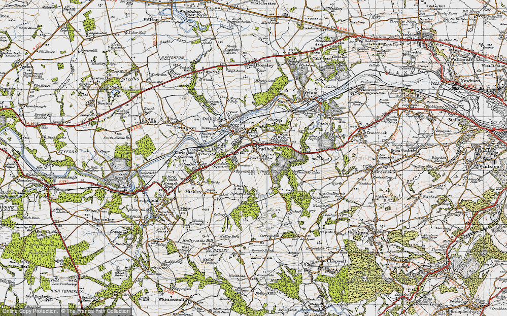 Old Map of Prudhoe, 1947 in 1947