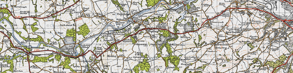 Old map of Prudhoe in 1947