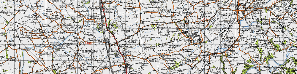 Old map of Whittingham Ho in 1947