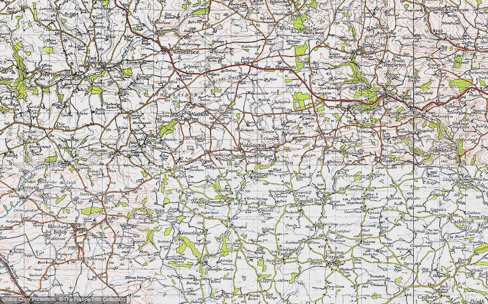 Old Map of Historic Map covering Bamson in 1946