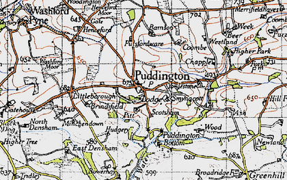 Old map of Yowlestone Ho in 1946