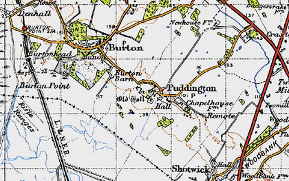 Old map of Puddington in 1947