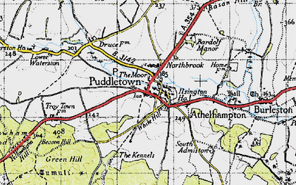 Old map of Bardolfeston Village in 1945