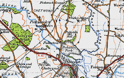Old map of Whitleyford Br in 1946