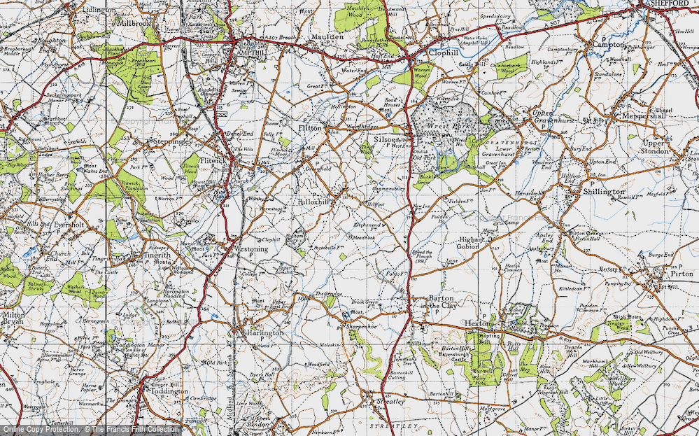 Old Map of Pulloxhill, 1946 in 1946