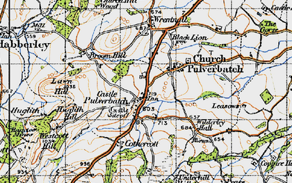 Old map of Lawn Hill in 1947