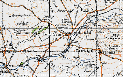 Old map of Puncheston in 1946