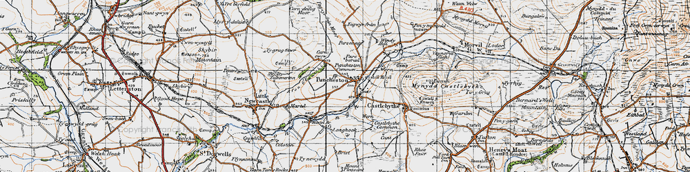 Old map of Windy Hill in 1946