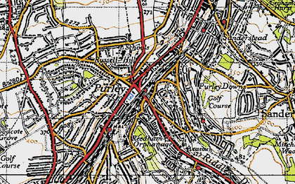 Old map of Purley in 1946