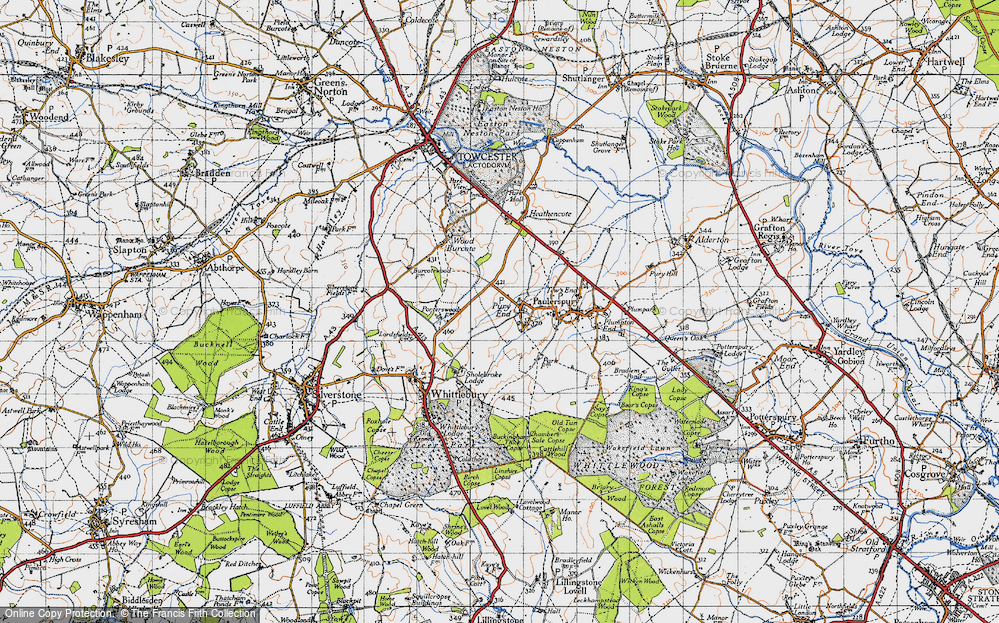 Old Map of Pury End, 1946 in 1946
