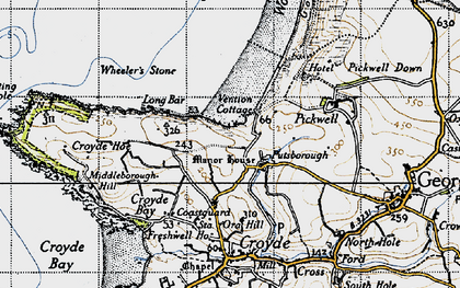 Old map of Putsborough in 1946