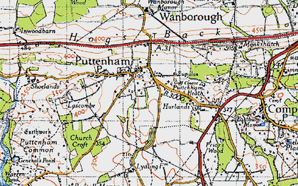 Old map of Lascombe in 1940
