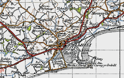 Old map of Allt Fawr in 1947