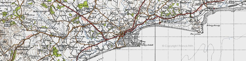 Old map of Allt Fawr in 1947