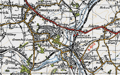 Old map of Pye Bridge in 1946