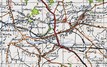 Old map of Pyle in 1947