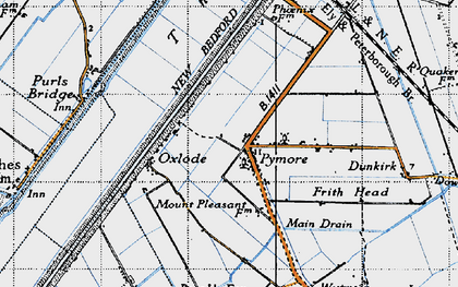 Old map of Pymore in 1946