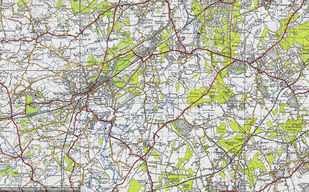 Old Map of Historic Map covering Newark Priory in 1940