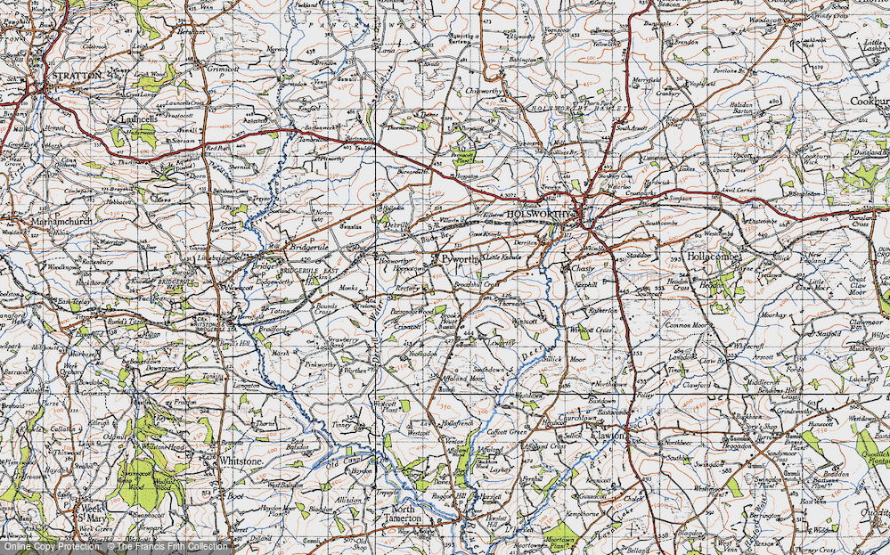 Old Map of Historic Map covering Affaland Moor in 1946