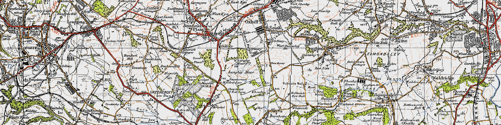 Old map of Wheatley Hill in 1947