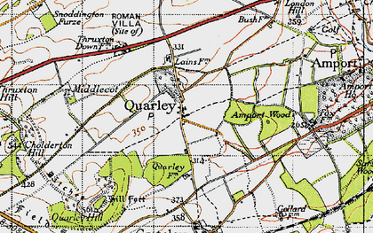 Old map of Amport Wood in 1940