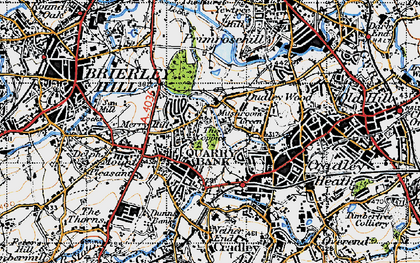 Old map of Quarry Bank in 1946
