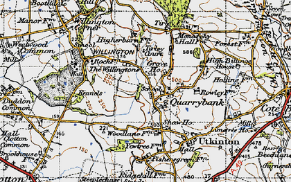 Old map of Willingtons, The in 1947