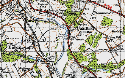 Old map of Quatford in 1946