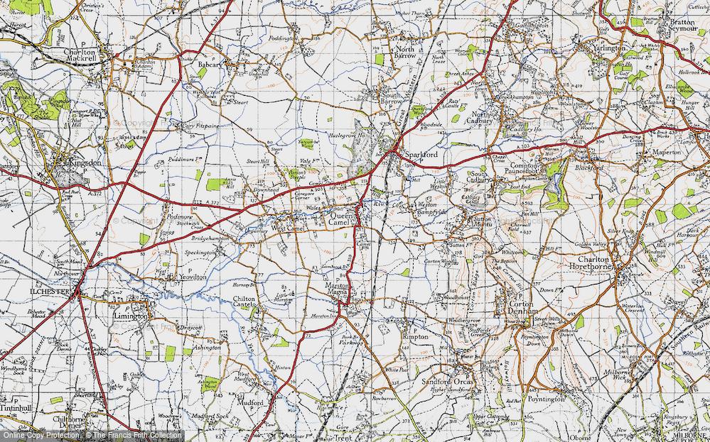 Old Map of Queen Camel, 1945 in 1945