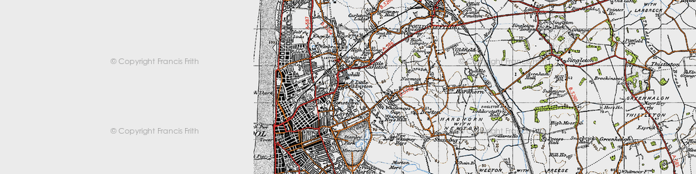 Old map of Queenstown in 1947
