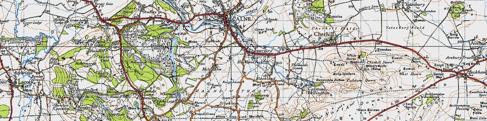 Old map of Quemerford in 1940