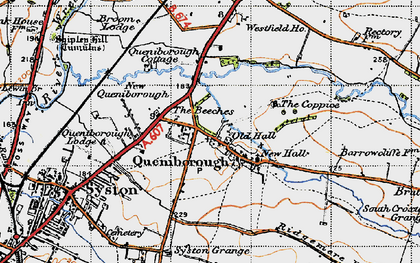 Old map of Queniborough in 1946