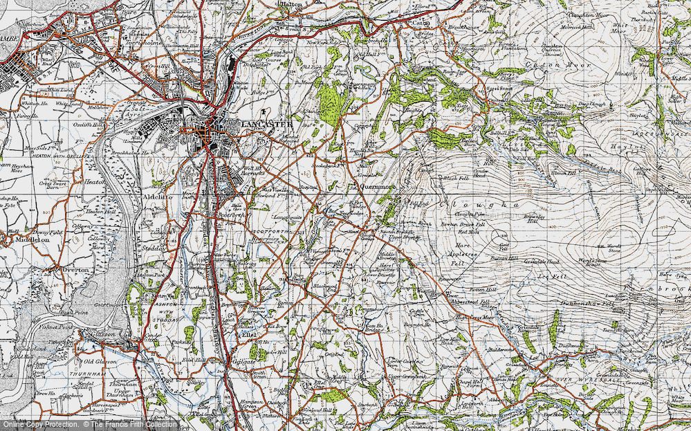 Old Map of Historic Map covering Askew Hill in 1947