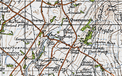 Old map of Lee End in 1947