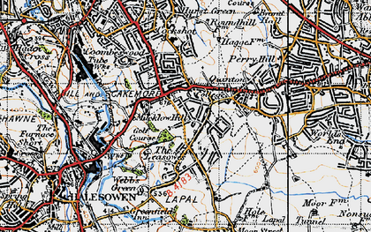 Old map of Quinton in 1947